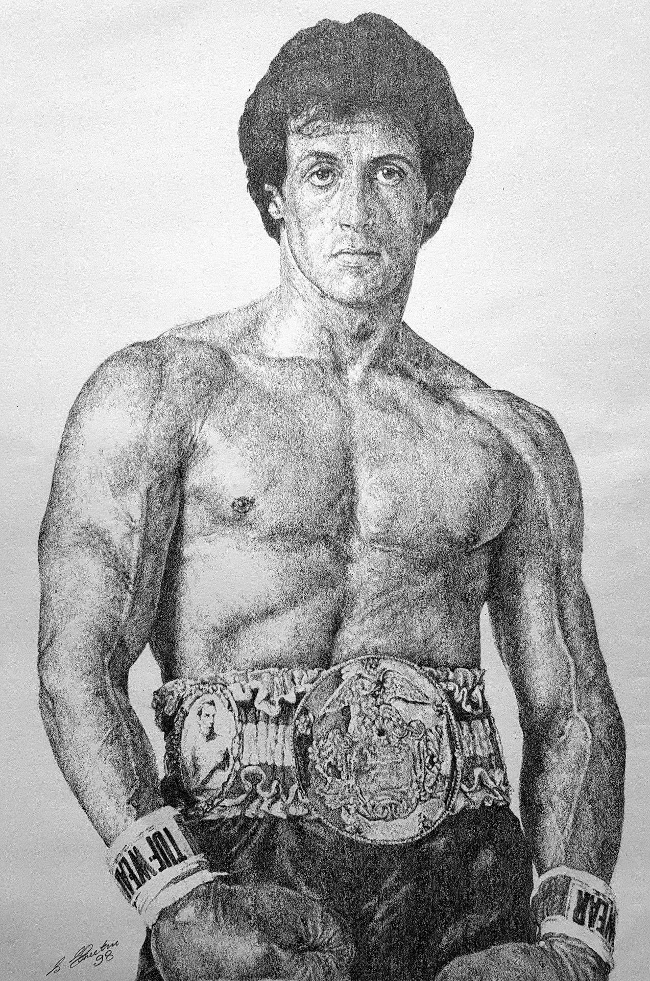 Sylvester Stallone In Pencil By Steven Streetin Celebrity Art