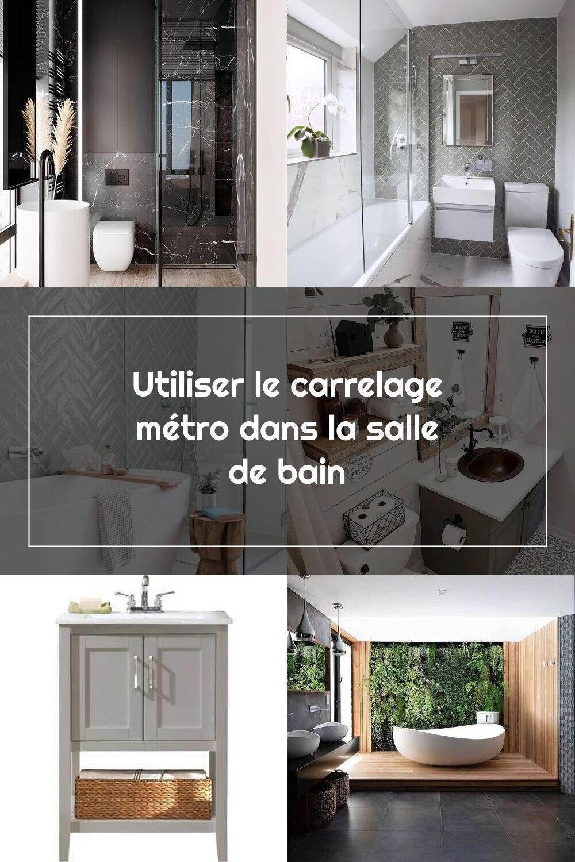 Salle De Bain Deco Carrelage Metro Bleu Pastel In 2020 Bathroom Interior Interior Bathroom