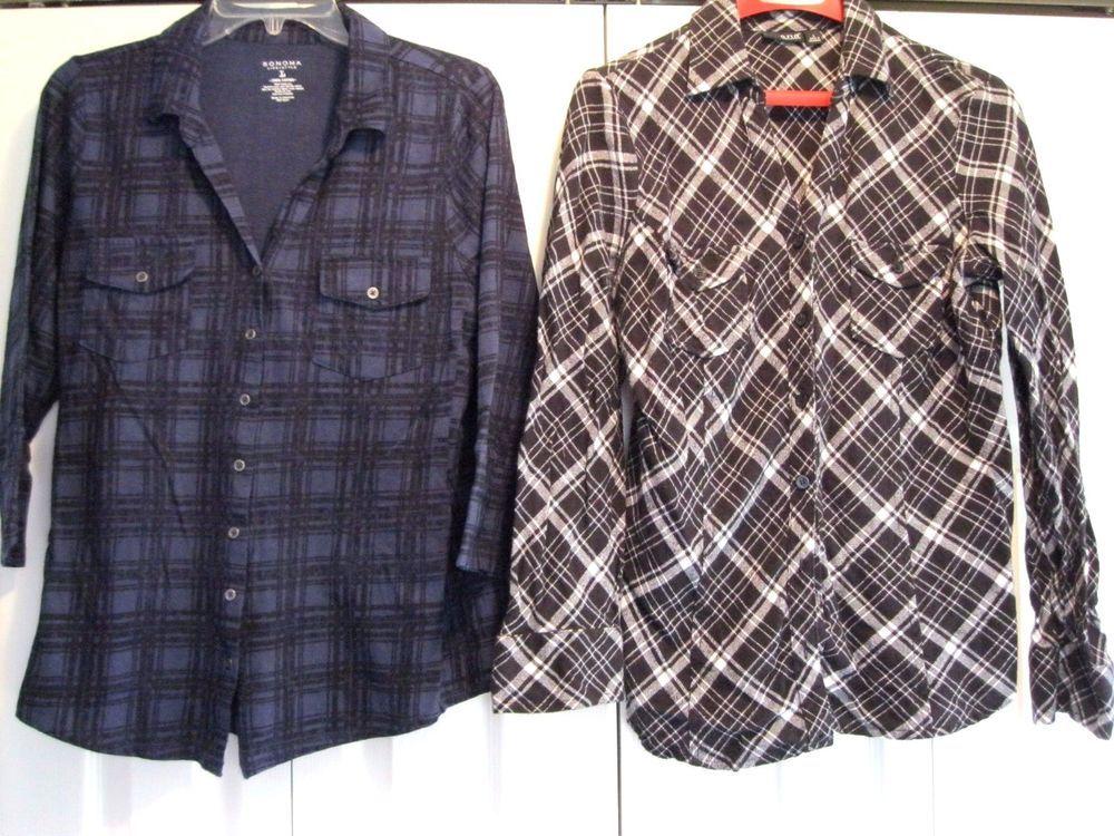 Women's Button down Blouses Size Large (Lot of 2) #ANASonoma #ButtonDownShirt #casual