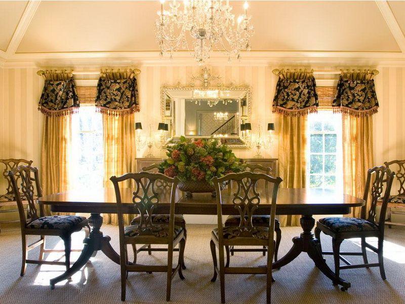 Elegant Dining Room Window Treatments