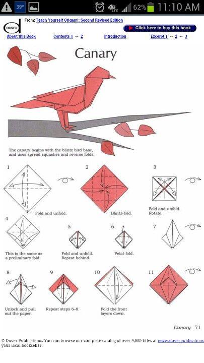 Photo of Origami Kanarienvogel