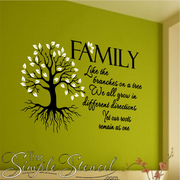 Family Branches and Roots Tree Quote   New Vinyl Wall ...