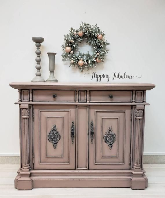 dusty gray rose entryway cabinet buffet credenza tv stand rh pinterest com