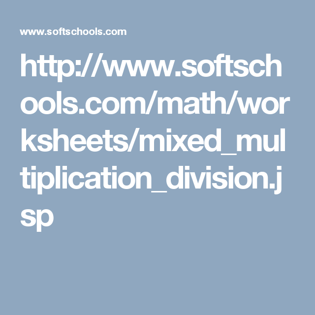 http://www.softschools.com/math/worksheets ...