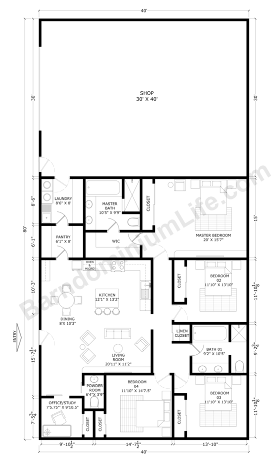 40x80 Barndominium Floor Plans with Shop – What to Consider