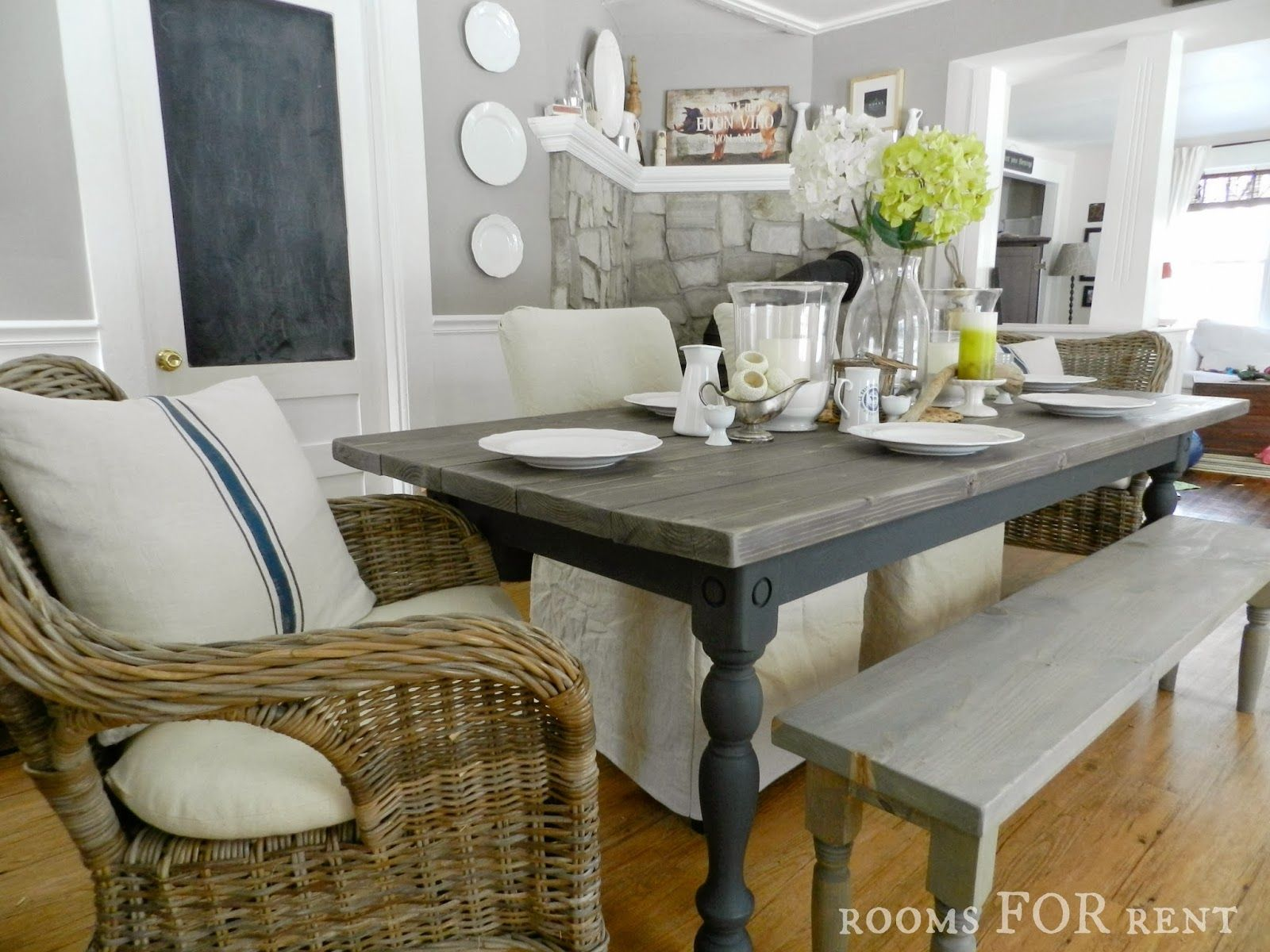 rooms for rent our new farmhouse dining table things to make rh pinterest com