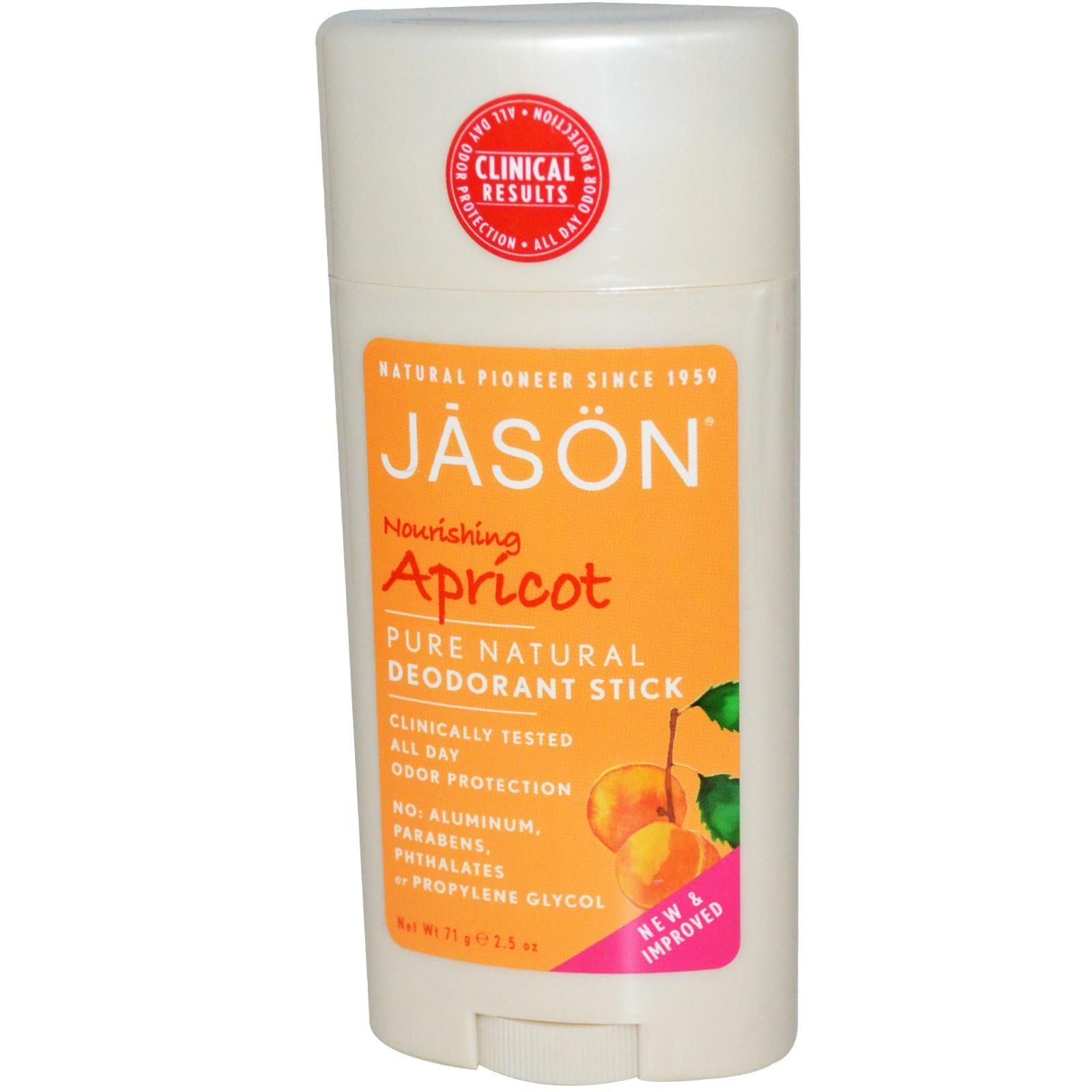 Jason Natural, Deodorant Stick, Nourishing Apricot, 2.5 oz (71 g) - iHerb.com