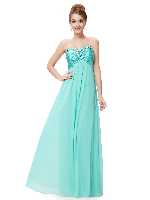 Rhinestones Ruffles Crystal Beads Light Blue Maternity Dress ...