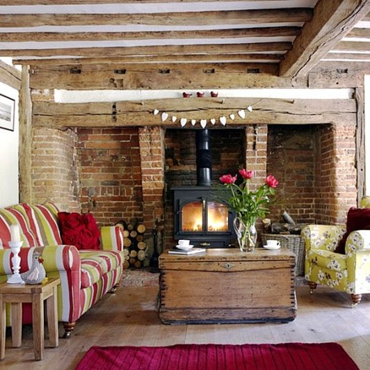 Best Country Home Decor And Interior Rustic Living Room Exposed