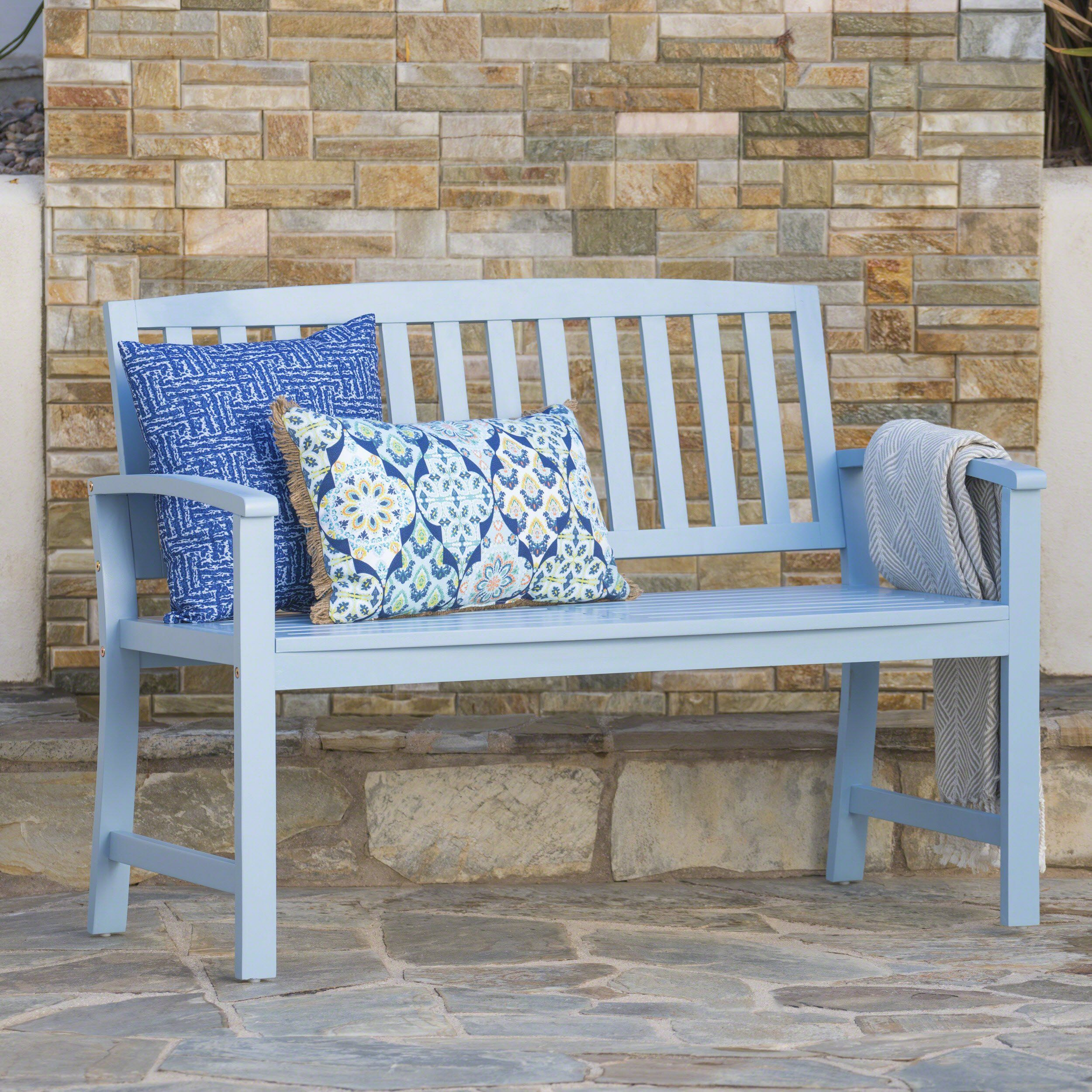 Lola Outdoor Acacia Wood Bench In 2019 Products Bench Garden In