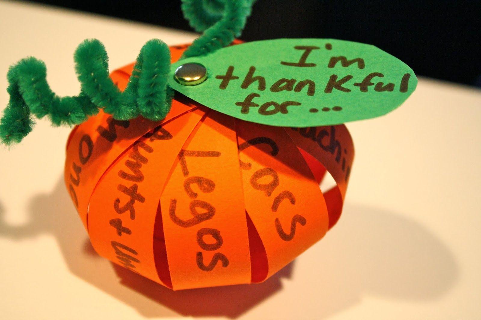 A Thankful Pumpkin Craft For Thanksgiving