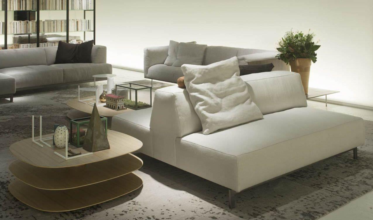 Contemporary sofa / fabric / by Piero Lissoni / 2-seater METROCUBO Living Divani