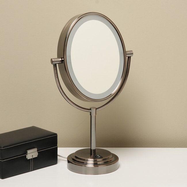 conair oiled bronze finish double sided 1x 7x illuminated mirror rh pinterest com