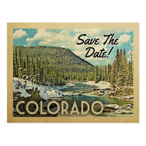 Colorado Save The Date Mountains River Snow Announcement