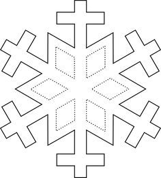 printable snowflake template the 6 diamond shapes and then rh pinterest com