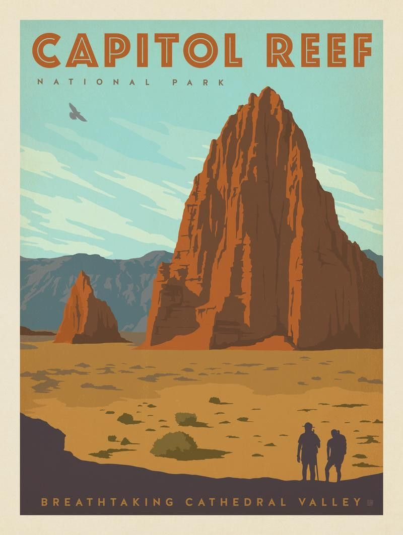 cathedral valley capitol reef national park utah poster art rh pinterest com