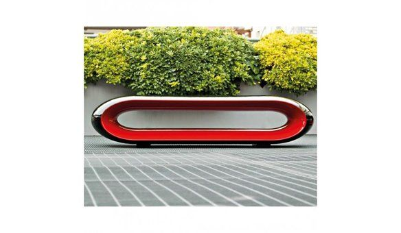 Serralunga Loop Design Bench (indoor or outdoor) in Greenwich Village, New York, NY, USA ~ Krrb