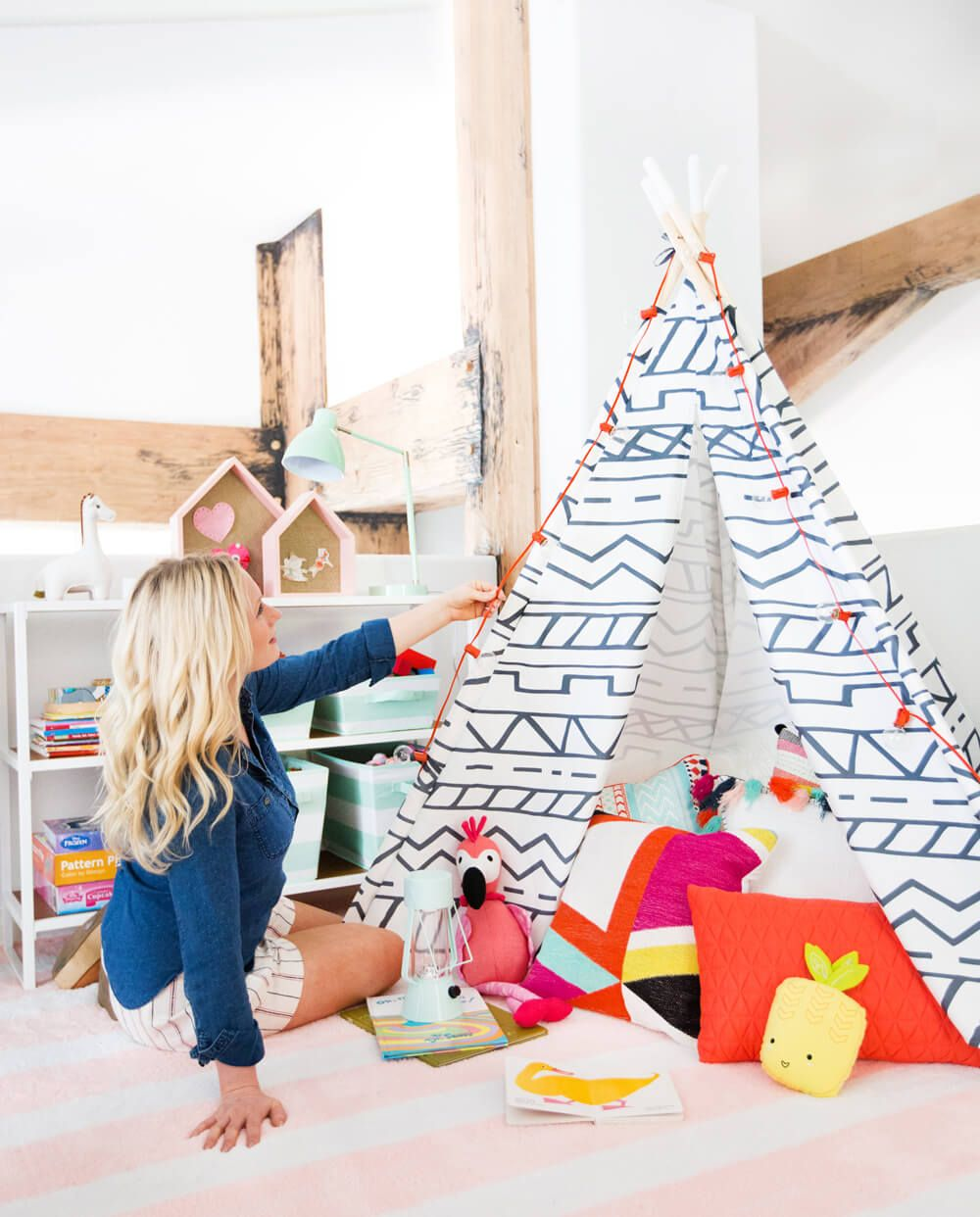 playroom makeover with pillowfort shop the collection hs office rh pinterest es