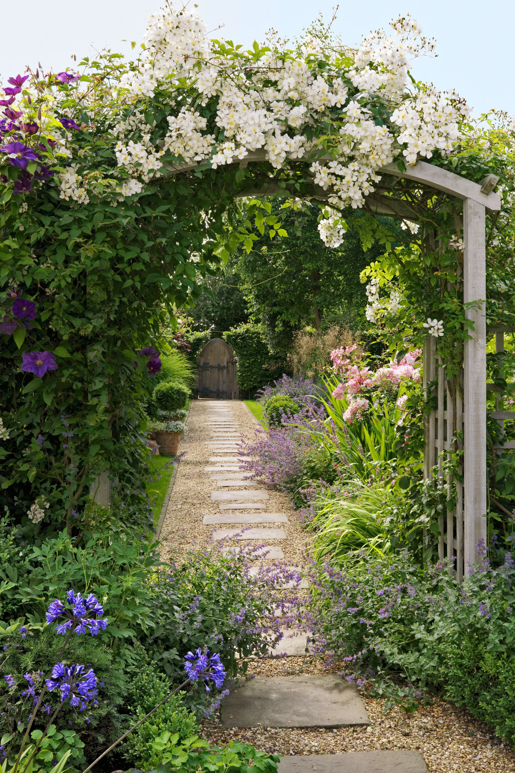 Country Cottage Garden Love the stone