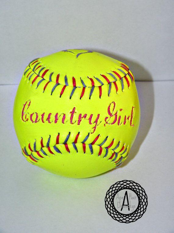Customized Softball Keepsake Memory Gift by ApesCustomPhotoProps