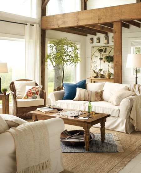 Romantic Rooms And Decorating Ideas: Pottery Barn Living Rooms Rustic