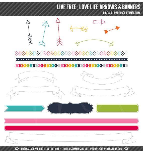 Live gratuit  Amour vie flèches & bannières numérique par MissTiina, $5.00