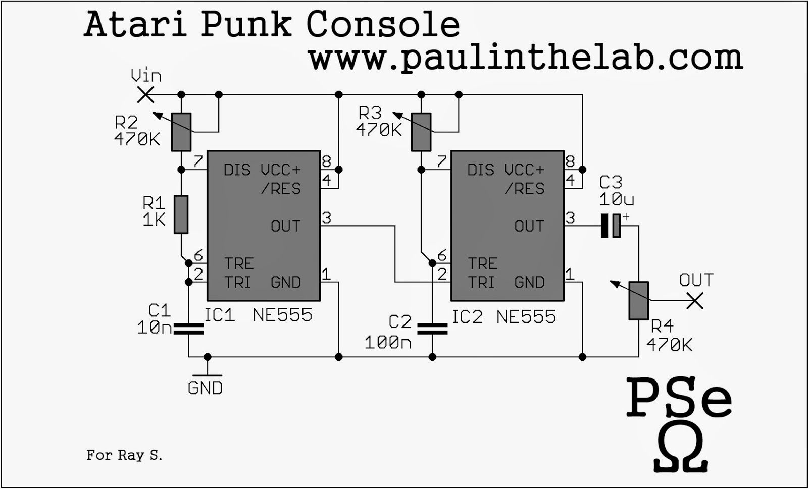 Atari Punk Console Using Two 555 Chips Arduinoscratch4arduino Circuit Board Artwork Stripboard And Breadboard Layout