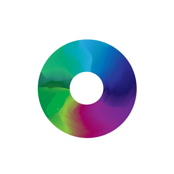 Color Wheel In The Form Of A Disc Made In Adobe Illustrator Art