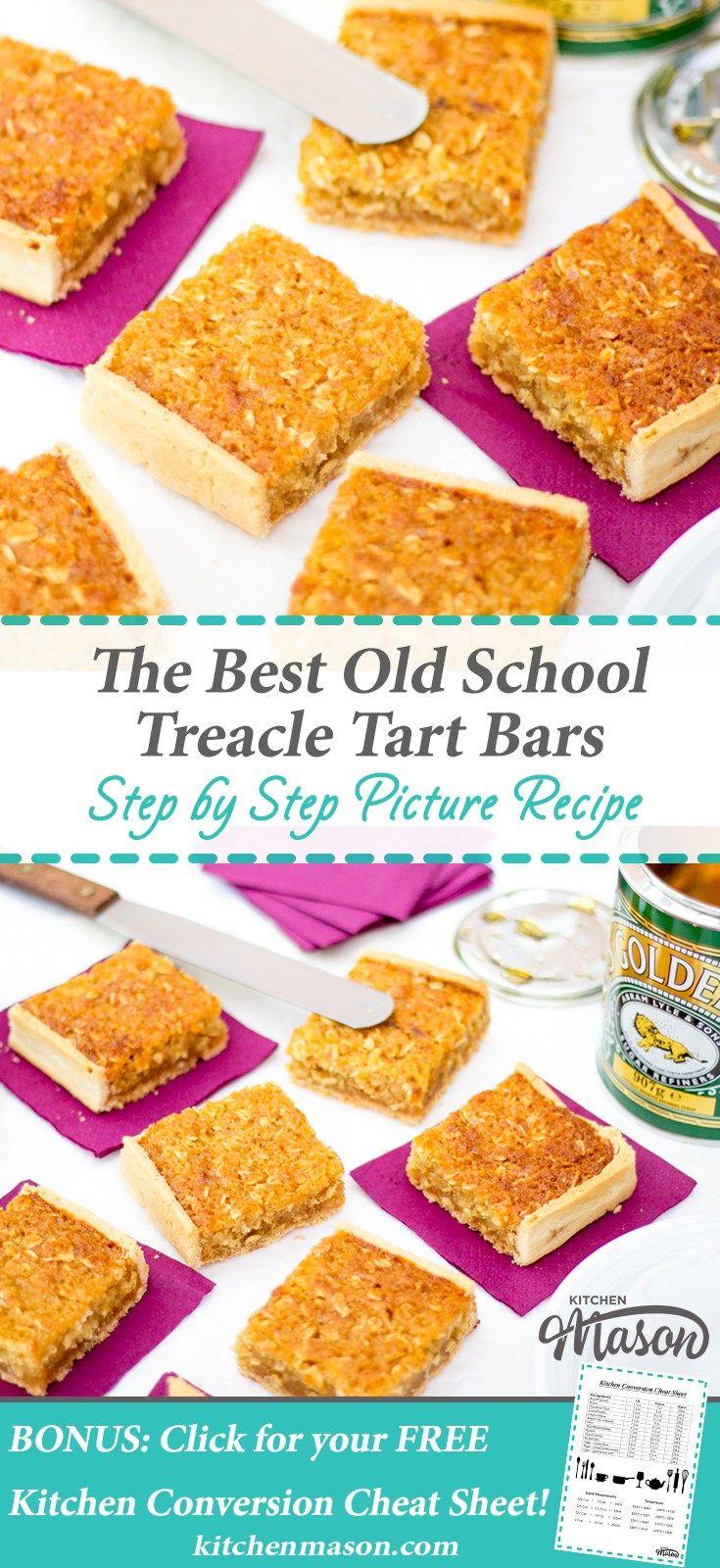 Treacle Tart The Best School Bars Traybake Golden Syrup Treacle Tart Dessert Recipes Easy Dessert Recipes