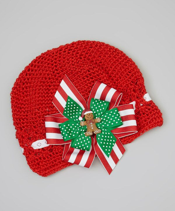 Look at this Red Gingerbread Man Crocheted Beanie on #zulily today!