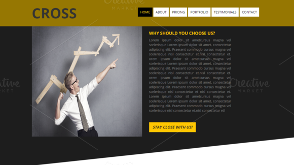 Cross Multi Purpose Bootstrap Theme by Dueza.Com on @creativework247