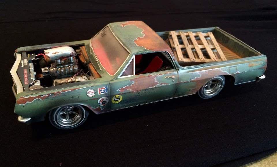 1 25 1965 Chevelle El Camino Blower Custom Weathered