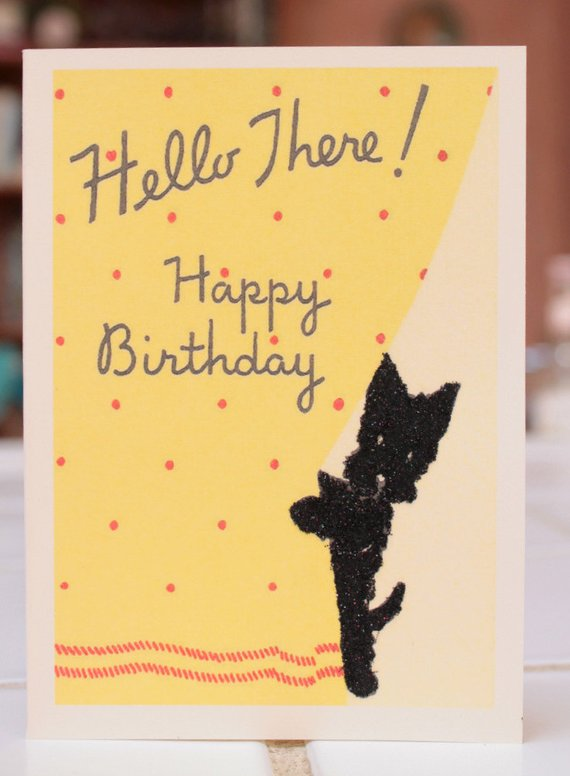 Birthday Card With Scottish Terrier Birthday Cards Vintage Birthday Cards Greeting Card Companies