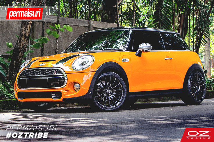 Oztribe Our Indonesian Retailer Permaisuri Sent Us A Pic With This Crazy Mini Cooper S F56 Equipped With Oz Racing Supert Mini Cooper S Mini Cooper Dream Cars