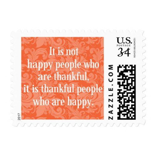 stylish floral typographical thanksgiving message postage popular
