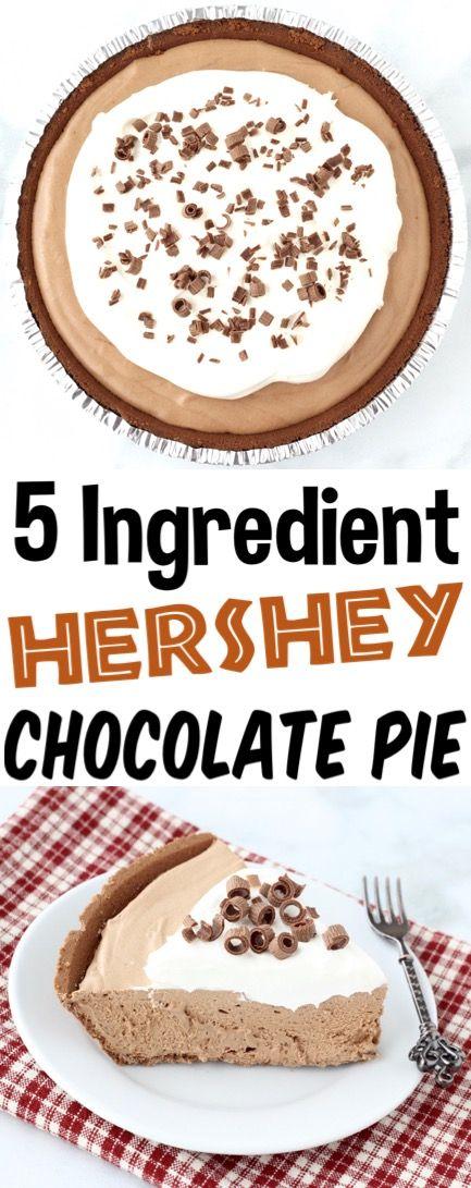 Hershey Chocolate Pie Recipe {5-Ingredient Easy No Bake Pie} - The Frugal Girls