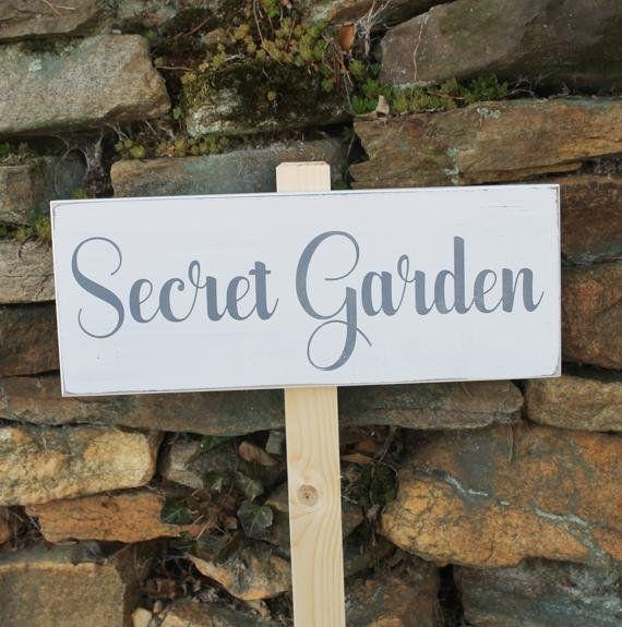 secret garden signs, secret garden wood sign hand painted for garden or yard sign, Design ideen
