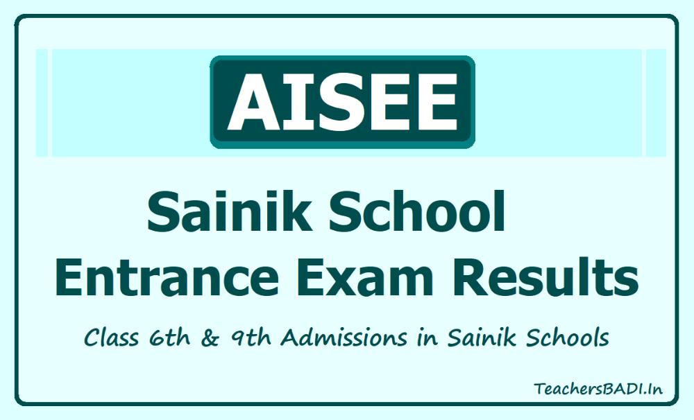 All India Sainik School Entrance Exam Results 2021 Aissee Region Wise Results School Entrance Entrance Exam Exam Results