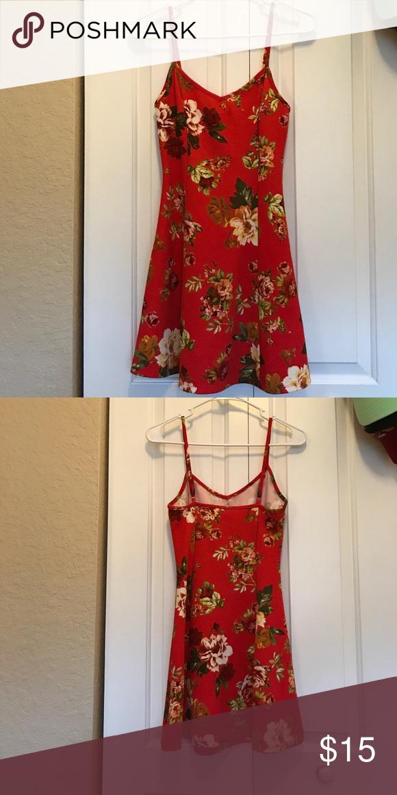 Floral Mini Dress Mini dress, stretchy material, looks great with a jean jacket Ambiance Apparel Dresses Mini
