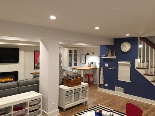 Before After Lacey S Multifunctional Basement Basement Design