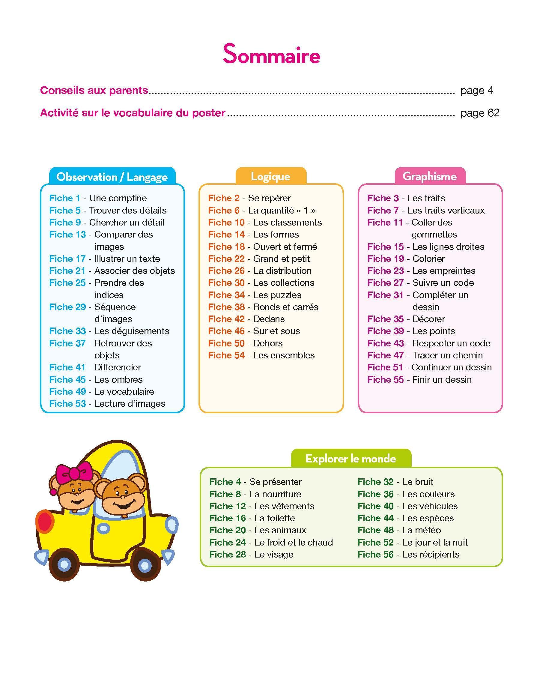 Presentation Du Sommaire Toute Ma Maternelle Tout Le Programme Toute Petite Section Hachette Grande Section Programme Maternelle Cahier De Vacances Gratuit