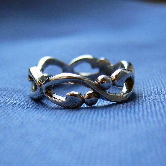 Unendlich Eheringe Silber Ehering von metalicious auf Etsy