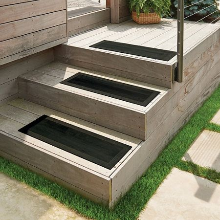Best Textured Rubber Stair Treads With Grips Set Of 4 Outdoor 400 x 300