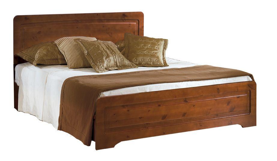 Letto matrimoniale rustico in legno di pino massello di svezia - Camere da letto in legno rustico ...