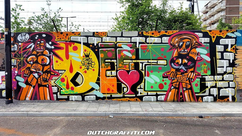 Graffiti Hall Of Fame Tilburg, Netherlands. Work by Jeuk, Acse, CFK, Amigos, Conan and more.