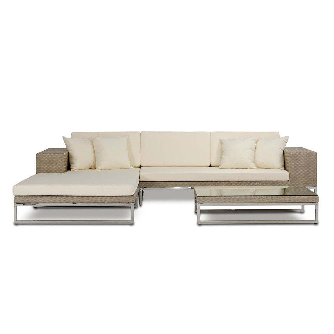 Vig Furniture VGRM7256 Limba Patio Sectional Sofa Set