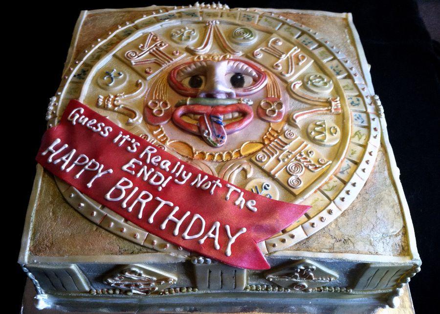 Mayan Calendar Birthday Cake Mayan Inspiration Board In