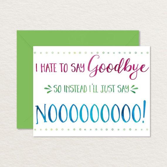 printable goodbye card funny goodbye card printable farewell