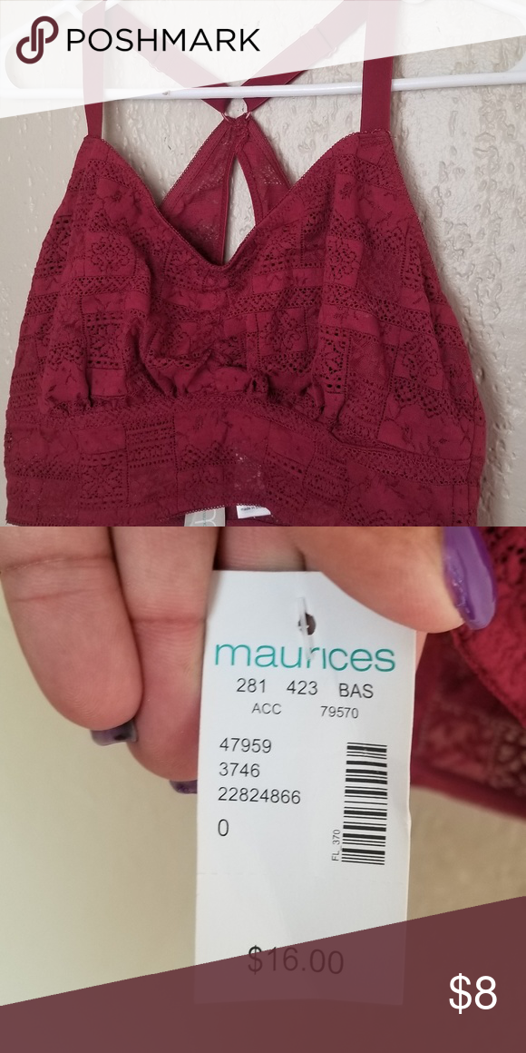 9b56d501d Maurices bralet Dark orange bralet nwt plus size 0 Maurices Intimates   Sleepwear  Bras