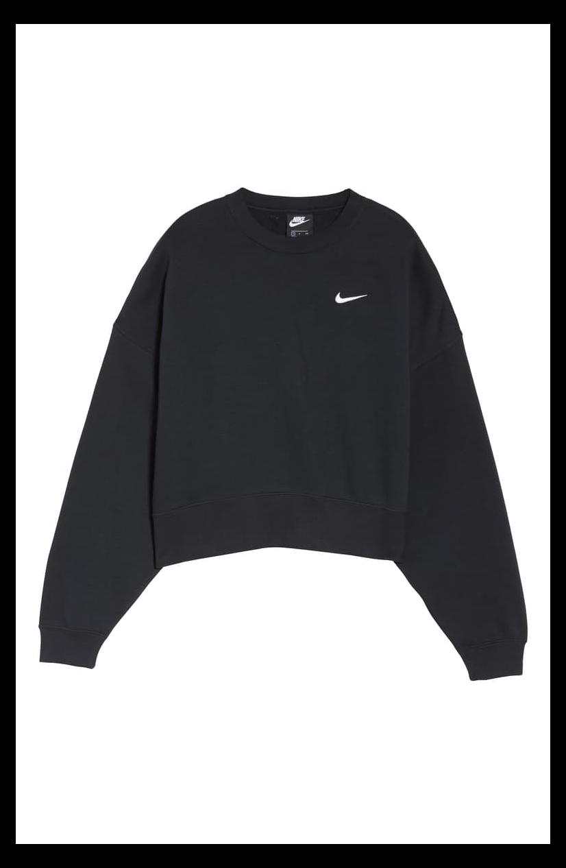 Sportswear Crewneck Sweatshirt Sweatshirts A Cropped Silhouette And Slouchy Sleeves Define An Ultra Comfy S Nike Crewneck Sweatshirt Nike Crewneck Sweatshirts [ 1266 x 826 Pixel ]